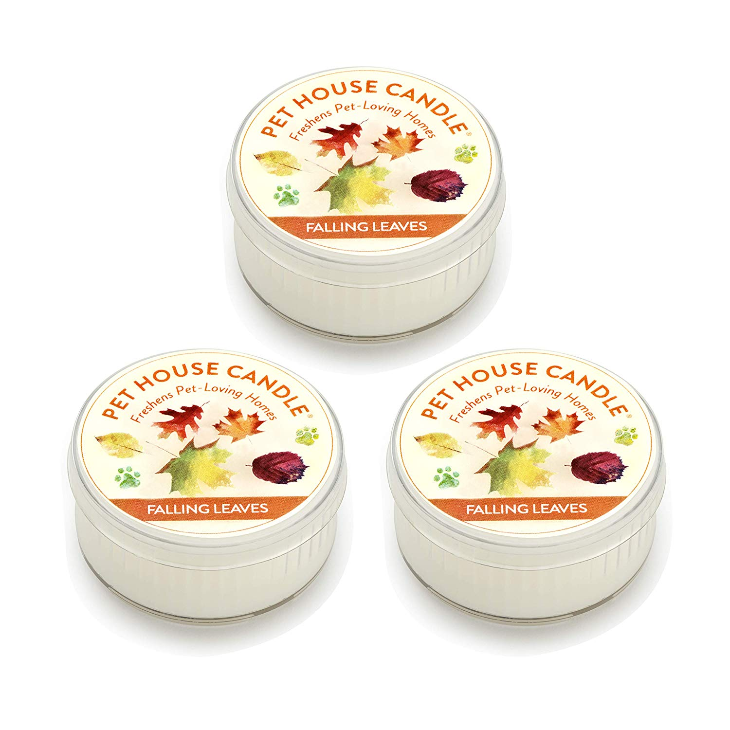 Pet House Falling Leaves Natural Soy Candle, 1.5-oz jar