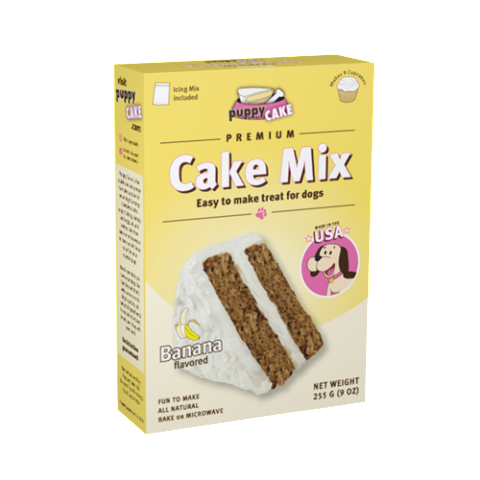 Puppy Cake Cake Mix Banana Flavored Dog Treats, 9-oz