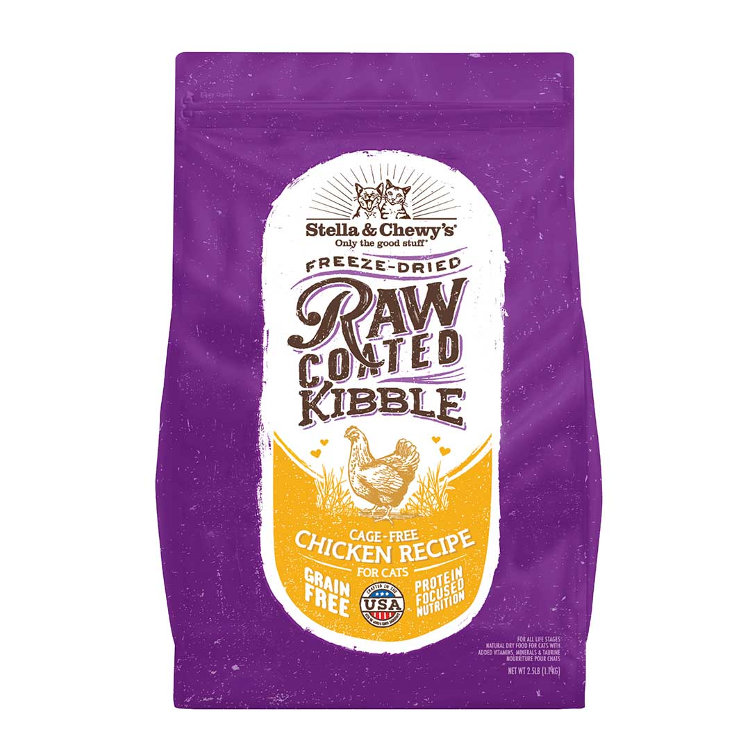 Stella & Chewy's Raw Coated Kibble Chicken Recipe Dry Cat Food, 2.5-lb