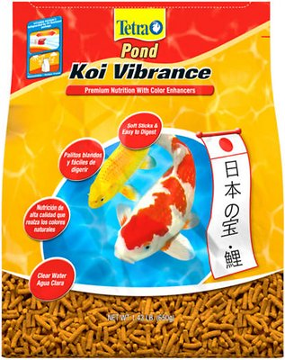 Tetra Pond Koi Vibrance Color Enhancing Sticks Koi & Goldfish Food, 1.43-lb bag