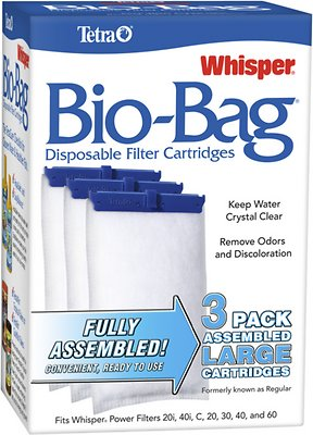 Tetra Whisper Bio-Bags Large Filter Cartridge, 3 count