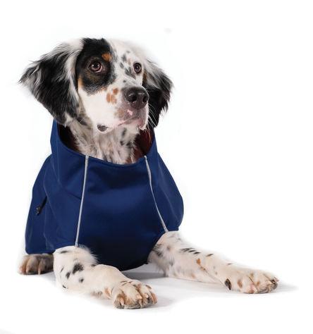 Gold Paw Rain Paw All-Season Dog Rain Jacket, Navy and Navy, 10/12