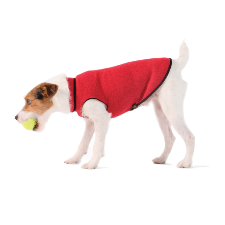 Gold Paw Eco Fleece Dog Pullover, Ruby Red, 26