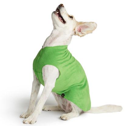 Gold Paw Stretch Fleece Grass Green Dog Coat, 30