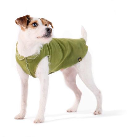 Gold Paw Stretch Fleece Moss Dog Coat, 2