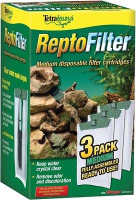 Tetrafauna ReptoFilter Cartridges Replacements, 3 Count, Medium, 90 GPH