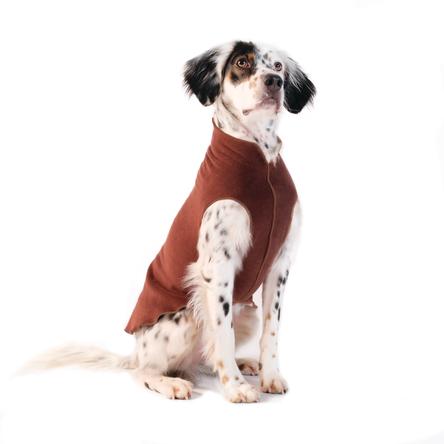 Gold Paw Stretch Fleece Chestnut Dog Coat, 6
