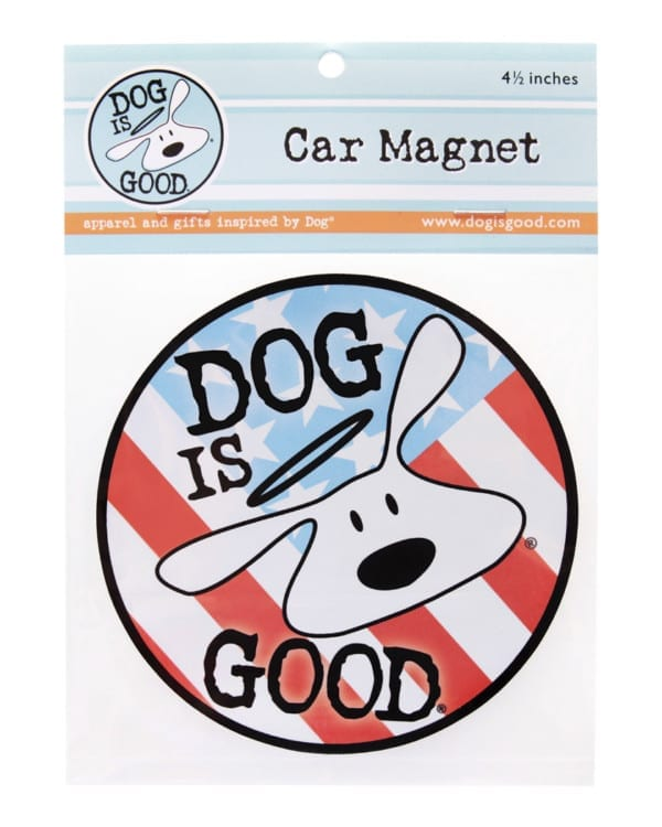 "Dog is Good ""Dog is Good"" Patriot Circle Car Magnet"