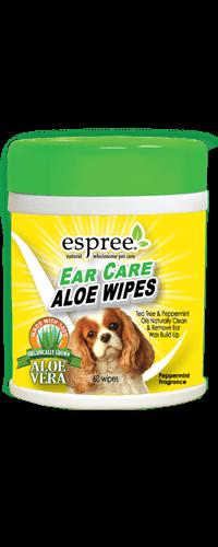 Espree Ear Care Aloe Dog Wipes, 60-count