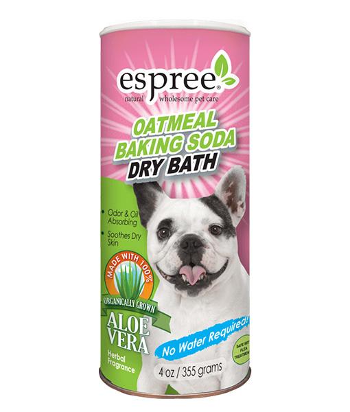 Espree Oatmeal Baking Soda Dry Bath for Dogs, 6-oz