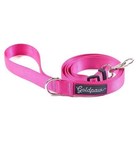 Gold Paw Adjustable Dog Leash, Fuchsia