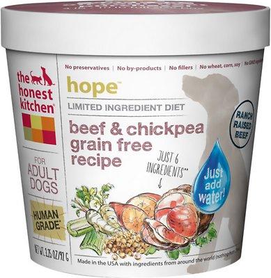 The Honest Kitchen Limited Ingredient Diet Beef Recipe Grain-Free Dehydrated Dog Food