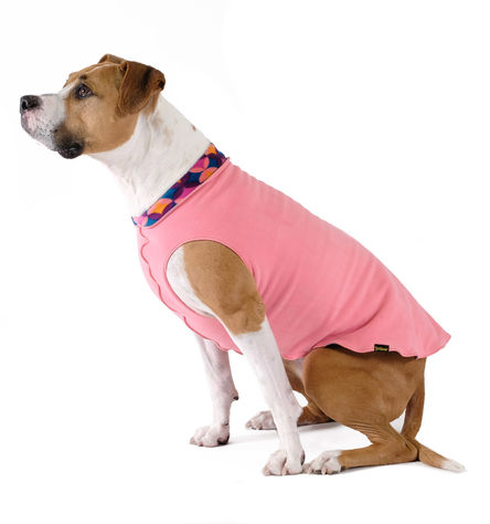 Gold Paw Duluth Double Fleece Dog Coat, Coral/Summer Mod, 26