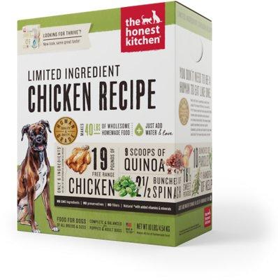 The Honest Kitchen Limited Ingredient Diet Chicken Recipe Grain-Free Dehydrated Dog Food, 10-lb box