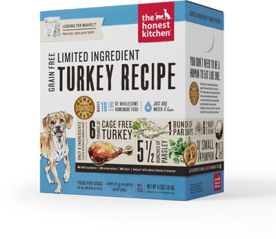 The Honest Kitchen Limited Ingredient Diet Turkey Recipe Grain-Free Dehydrated Dog Food