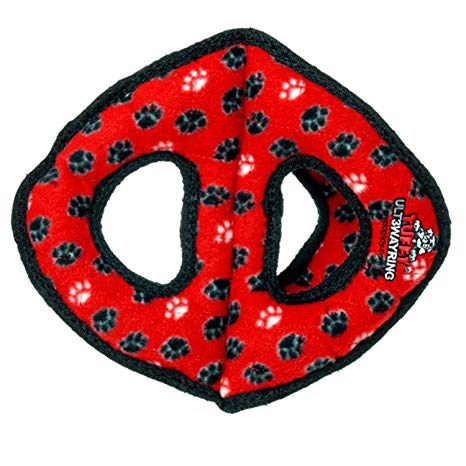 Tuffy's Ultimate 3-Way Ring Dog Toy, Red Paw