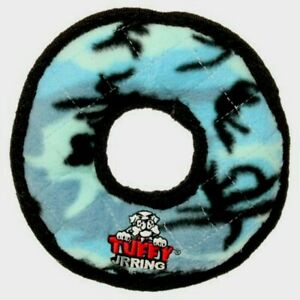 Tuffy's Junior Ring Dog Toy, Camo Blue
