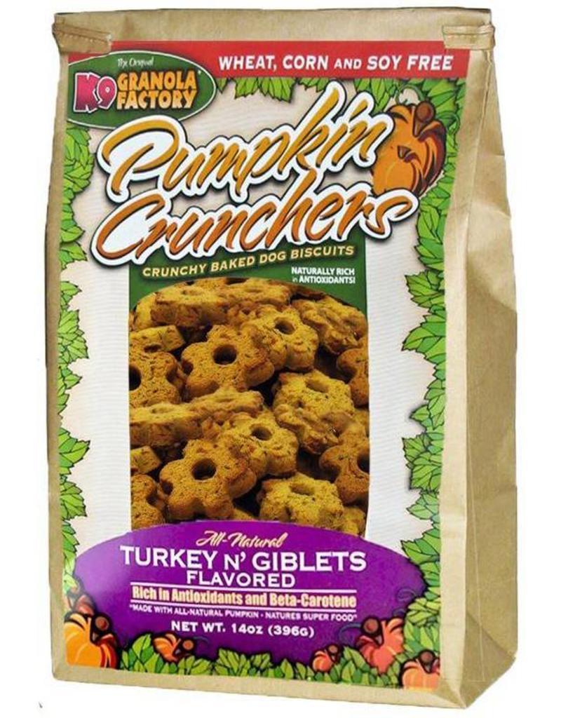 K9 Granola Factory Pumpkin Crunchers Turkey N' Giblets Flavored Dog Treats, 14-oz