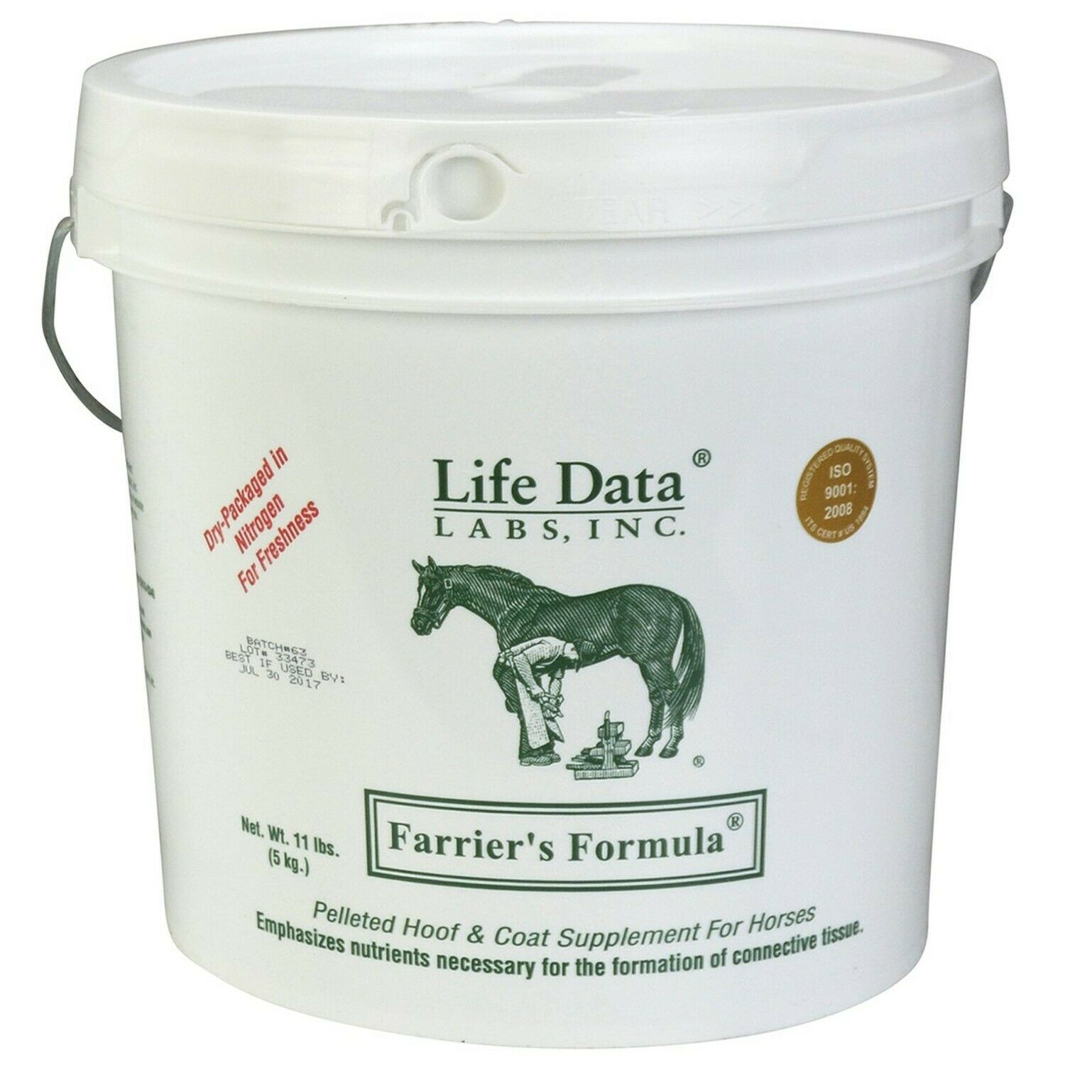 Life Data Farriers Formula Horse Food Size: 11-lb