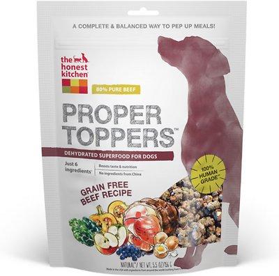 The Honest Kitchen Proper Toppers Grain-Free Beef Recipe Dog Food Topper, 5.5-oz bag