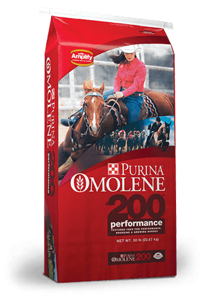 Purina Omolene 200 Performance Horse Food, 50-lb