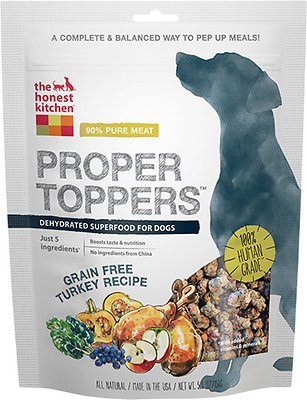The Honest Kitchen Proper Toppers Grain-Free Turkey Recipe Dog Food Topper, 5.5-oz bag