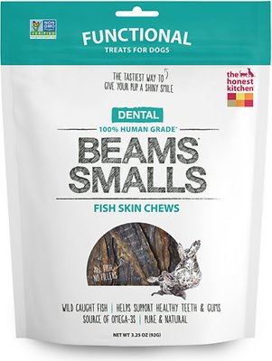 The Honest Kitchen Dental Beams Dehydrated Fish Skin Chews Dog Treats, Small, 3.25-oz