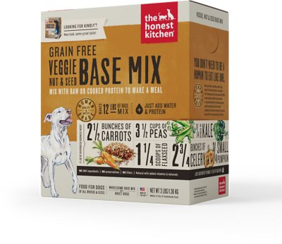 The Honest Kitchen Grain-Free Veggie, Nut & Seed Dehydrated Dog Base Mix, 3-lb box