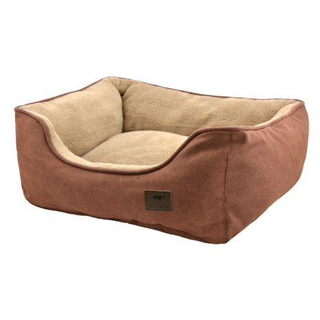 Tall Tails Dream Chaser Bolster Dog Bed, Brown, Large