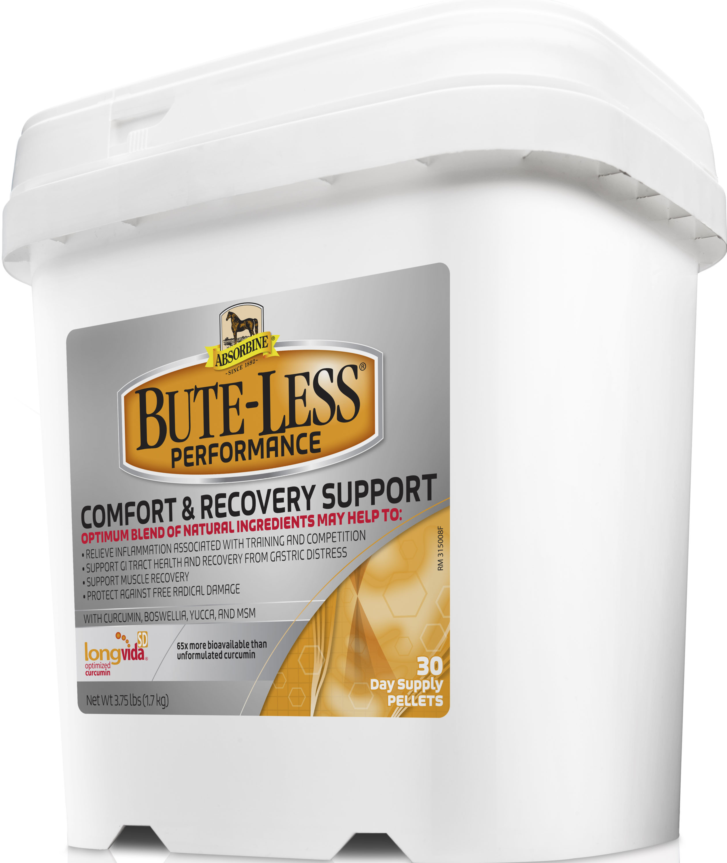 Absorbine Bute-Less Peformance Comfort & Recovery Support Horse Supplement, 3.75-lb