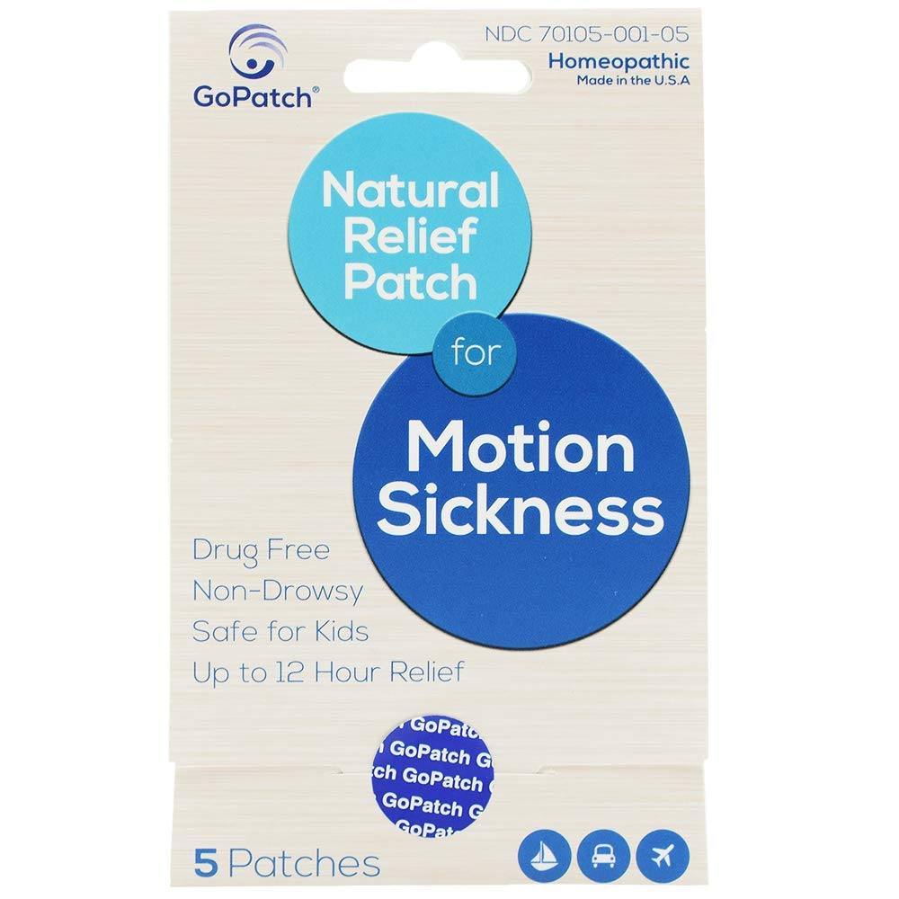 GoPatch Natural Relief Patch for Motion Sickness Dog Patch, 5-pk