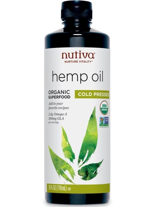 Nutiva Organic Superfood Oil Cold Pressed Supplement, 24-oz