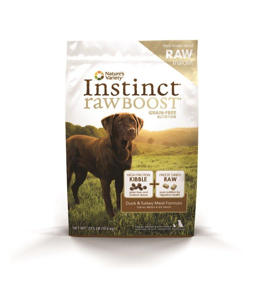 Instinct by Nature's Variety Rawboost Duck & Turkey Meal Formula Grain-Free Dry Dog Food, 21.5-lb
