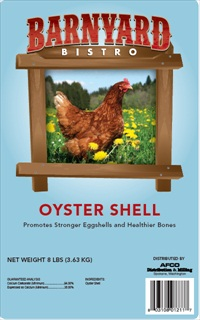 Barnyard Bistro Oyster Shell Chicken Food, 8-lb
