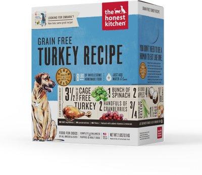 The Honest Kitchen Grain-Free Turkey Recipe Dehydrated Dog Food, 2-lb box