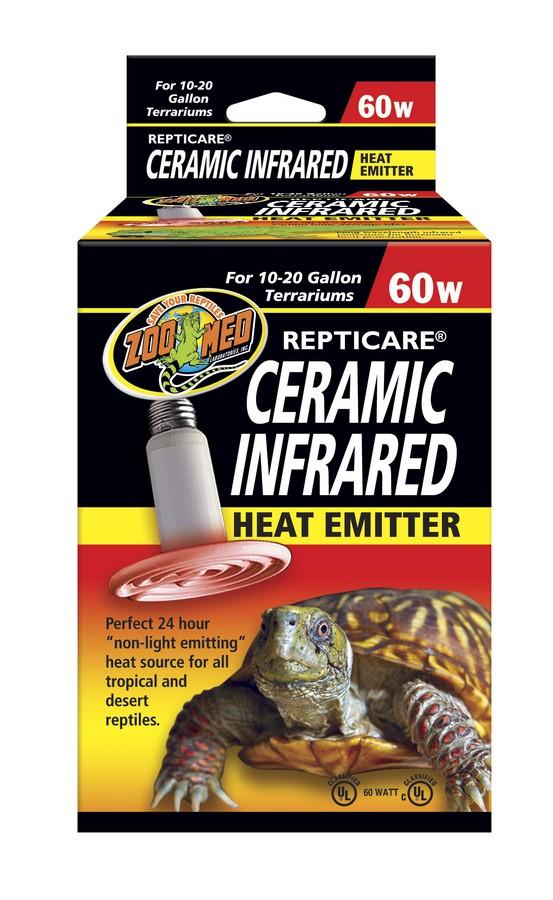 Zoo Med Repticare Ceramic Infrared Reptile Heater, 60-watt