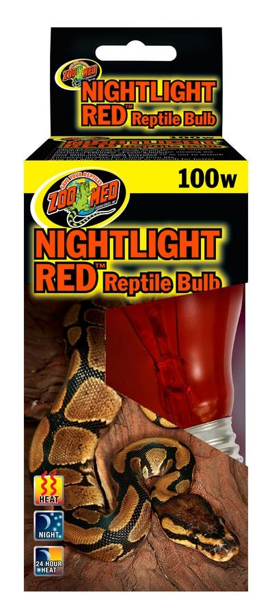 Zoo Med Nightlight Red Reptile Lamp, 100-watt