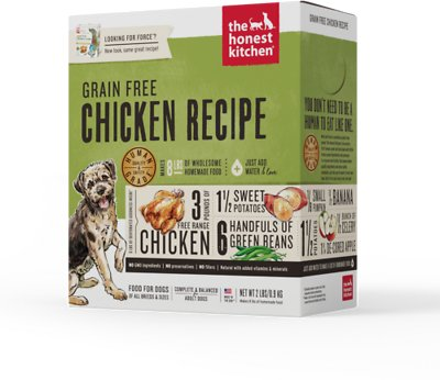The Honest Kitchen Grain-Free Chicken Recipe Dehydrated Dog Food, 2-lb box