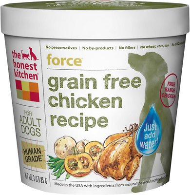The Honest Kitchen Grain-Free Chicken Recipe Dehydrated Dog Food, 3-oz cup, case of 8