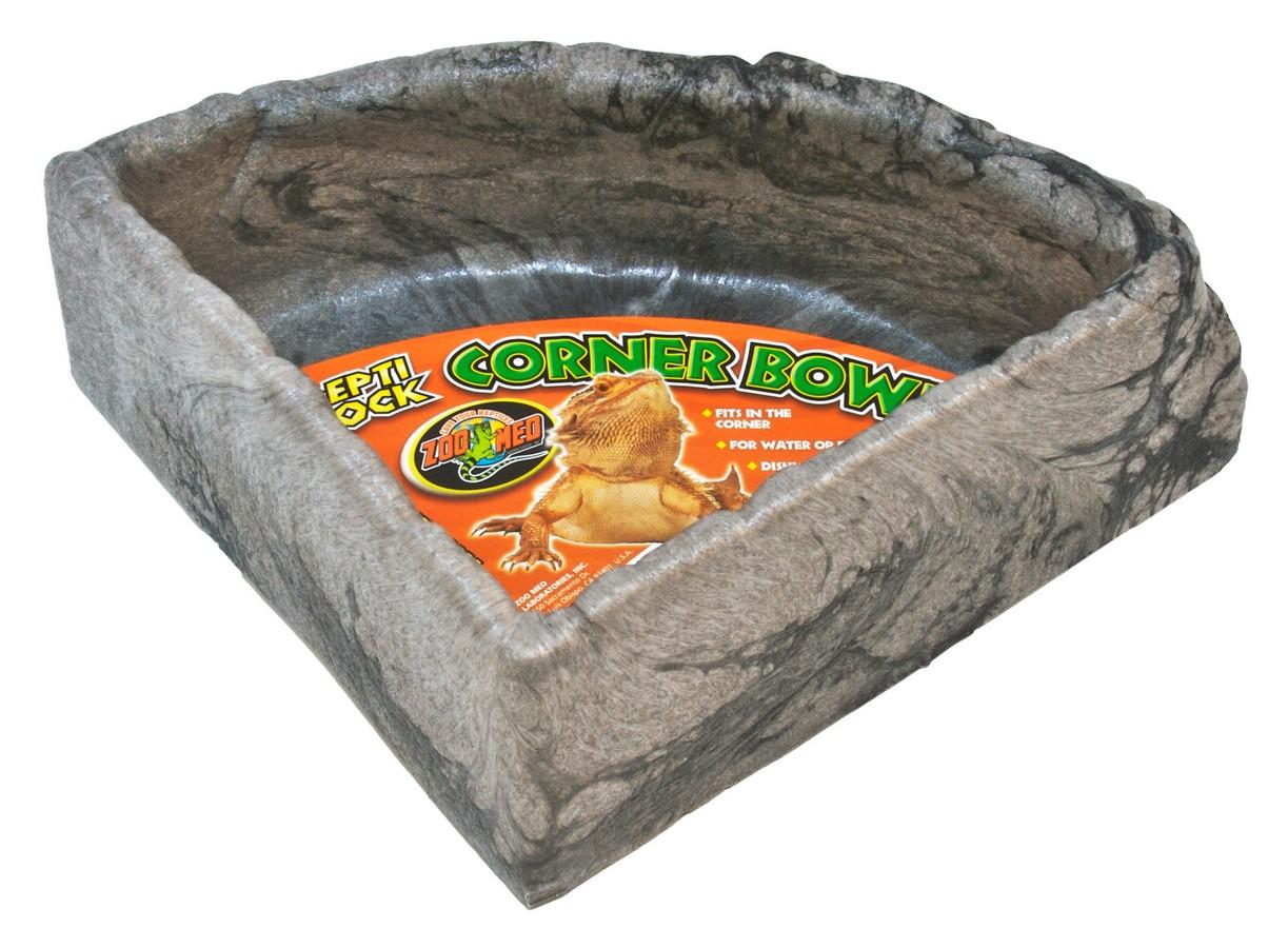 Zoo Med Repti Rock Corner Food & Water Bowl, Large