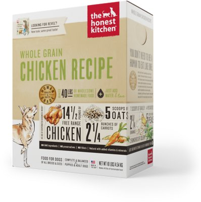 The Honest Kitchen Whole Grain Chicken Recipe Dehydrated Dog Food, 10-lb box