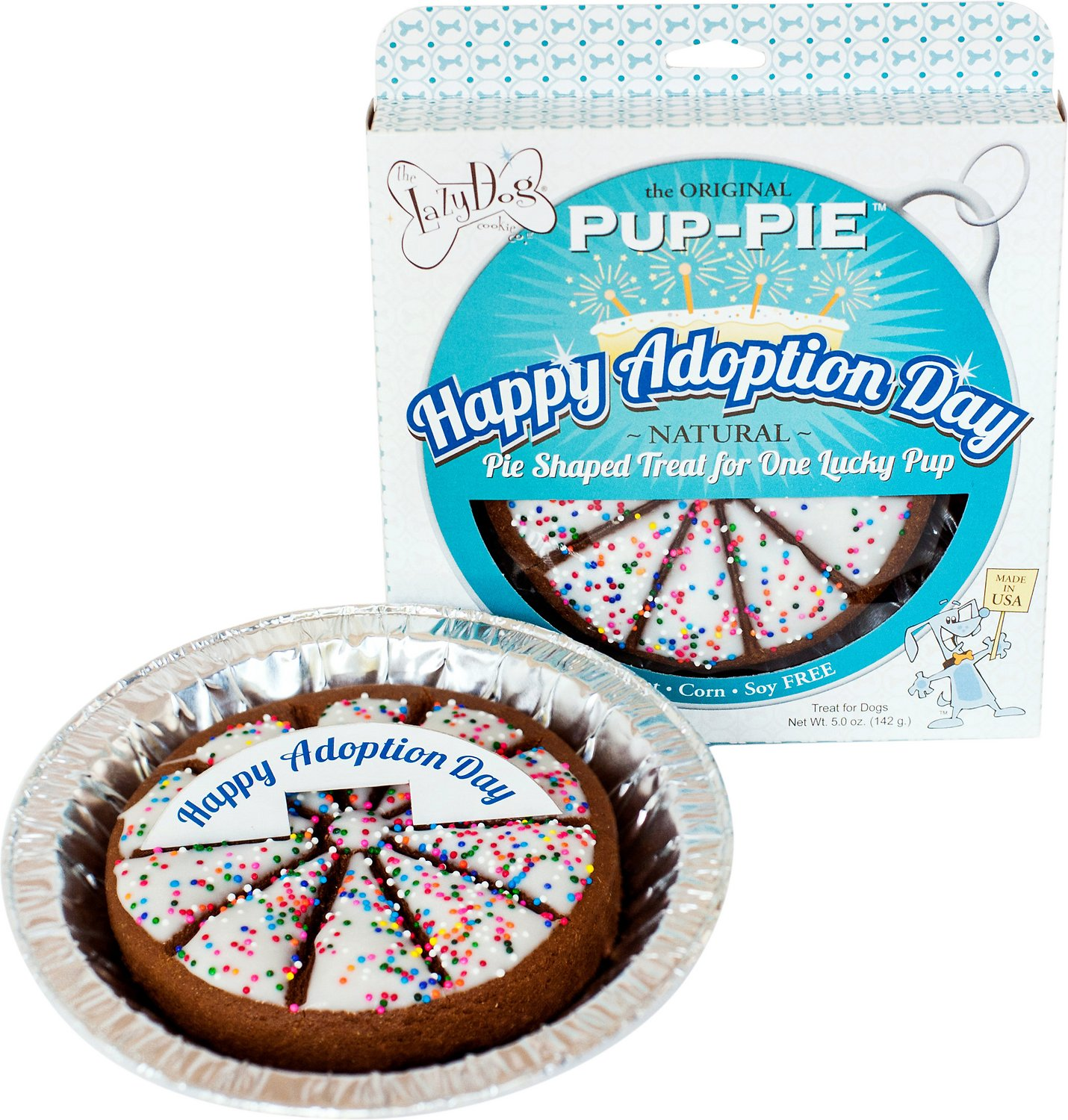 The Lazy Dog Cookie Co. Happy Adoption Day Pup-PIE Dog Treat