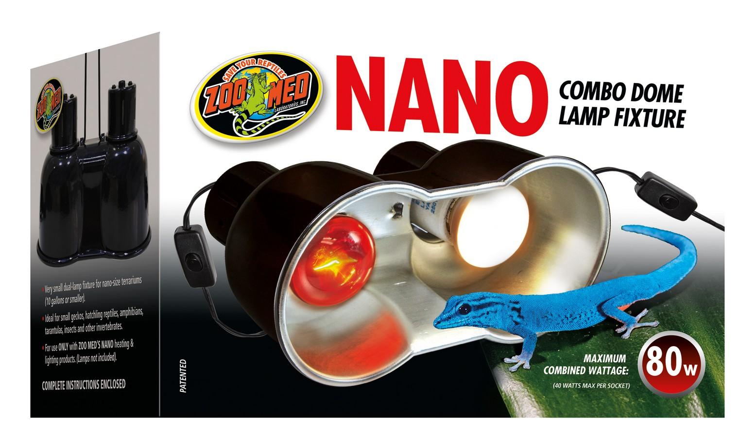 Zoo Med Nano Combo Dome Reptile Lamp Fixture