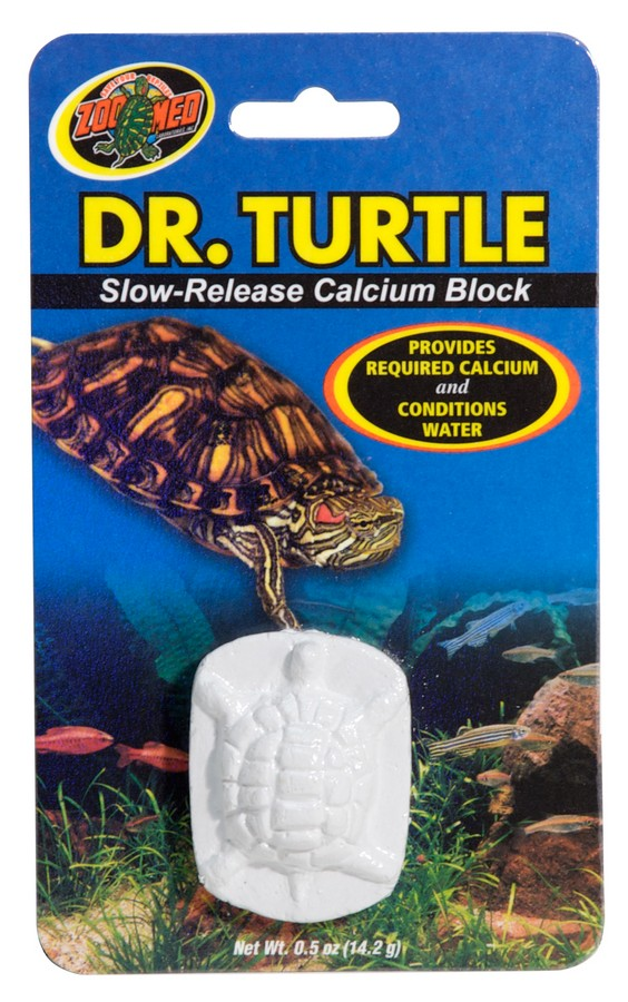 Zoo Med Dr. Turtle, Slow-Release Calcium Block Water Conditioner and Turtle Supplement, .5-oz