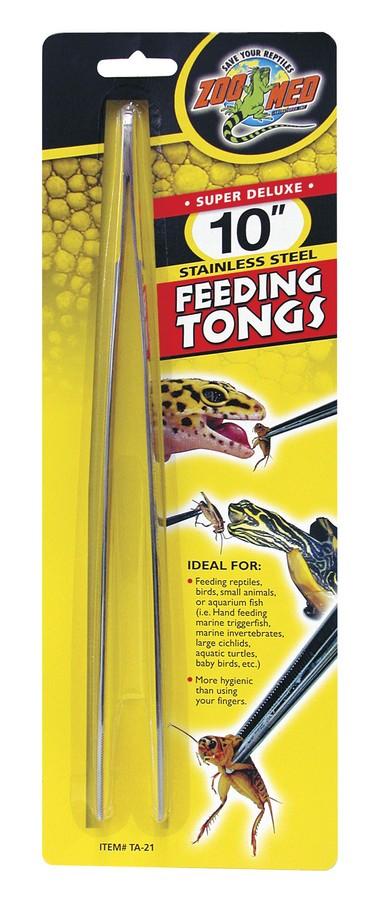 Zoo Med Stainless Steel Feeding Tongs, 10-in