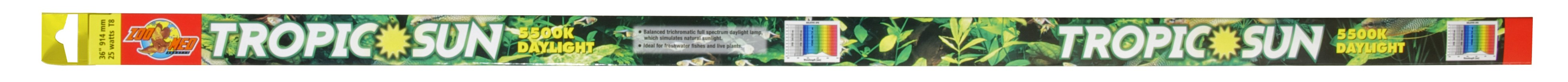 Zoo Med T8 Tropic Sun 5500K Daylight Lamp, 36-in