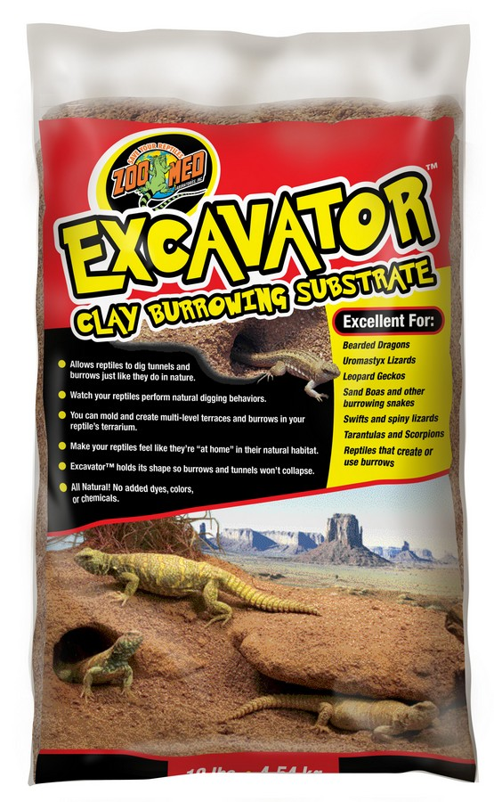 Zoo Med Excavator Clay Burrowing Reptile Substrate, 10-lb bag