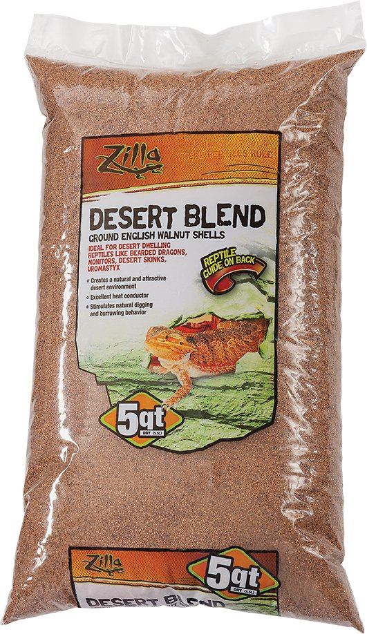 Zilla Ground English Walnut Shell Reptile Bedding, 5-quart bag