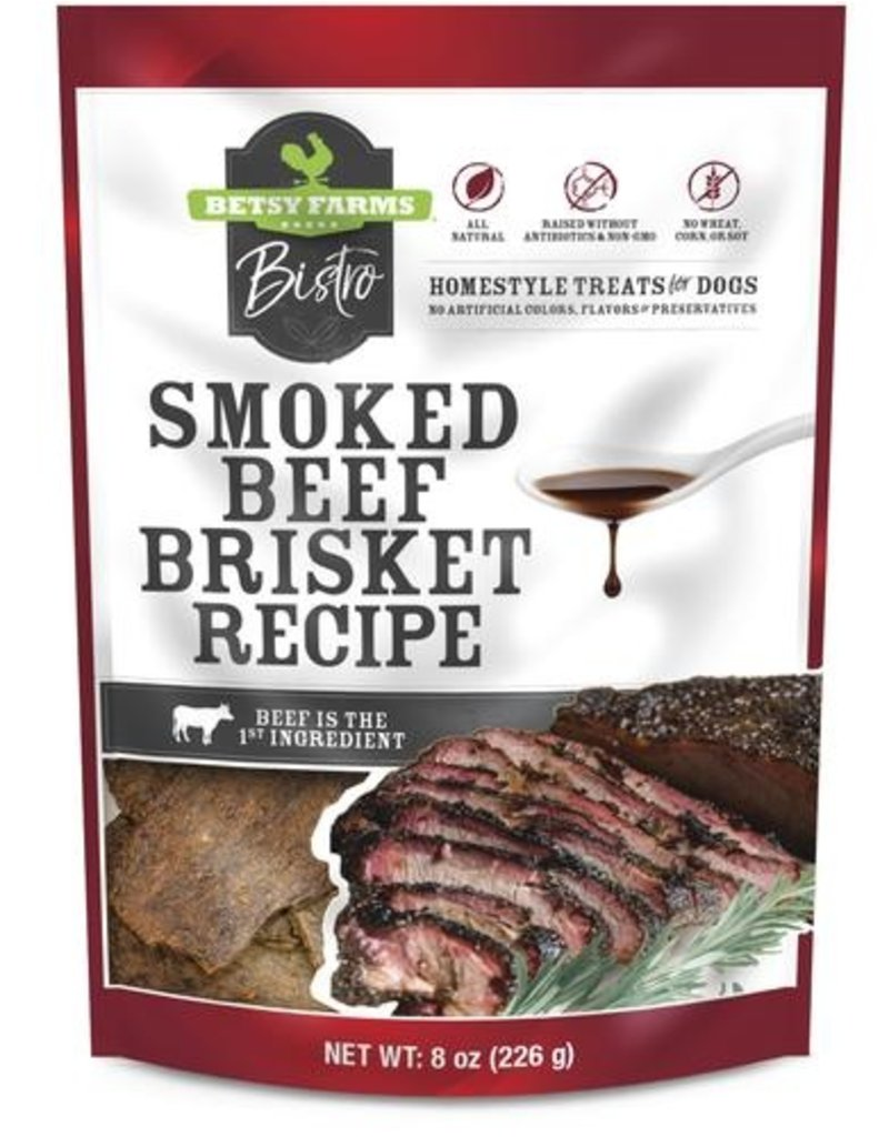 Betsy Farms Bistro Smoked Beef Brisket Recipe Dog Treats, 3-oz