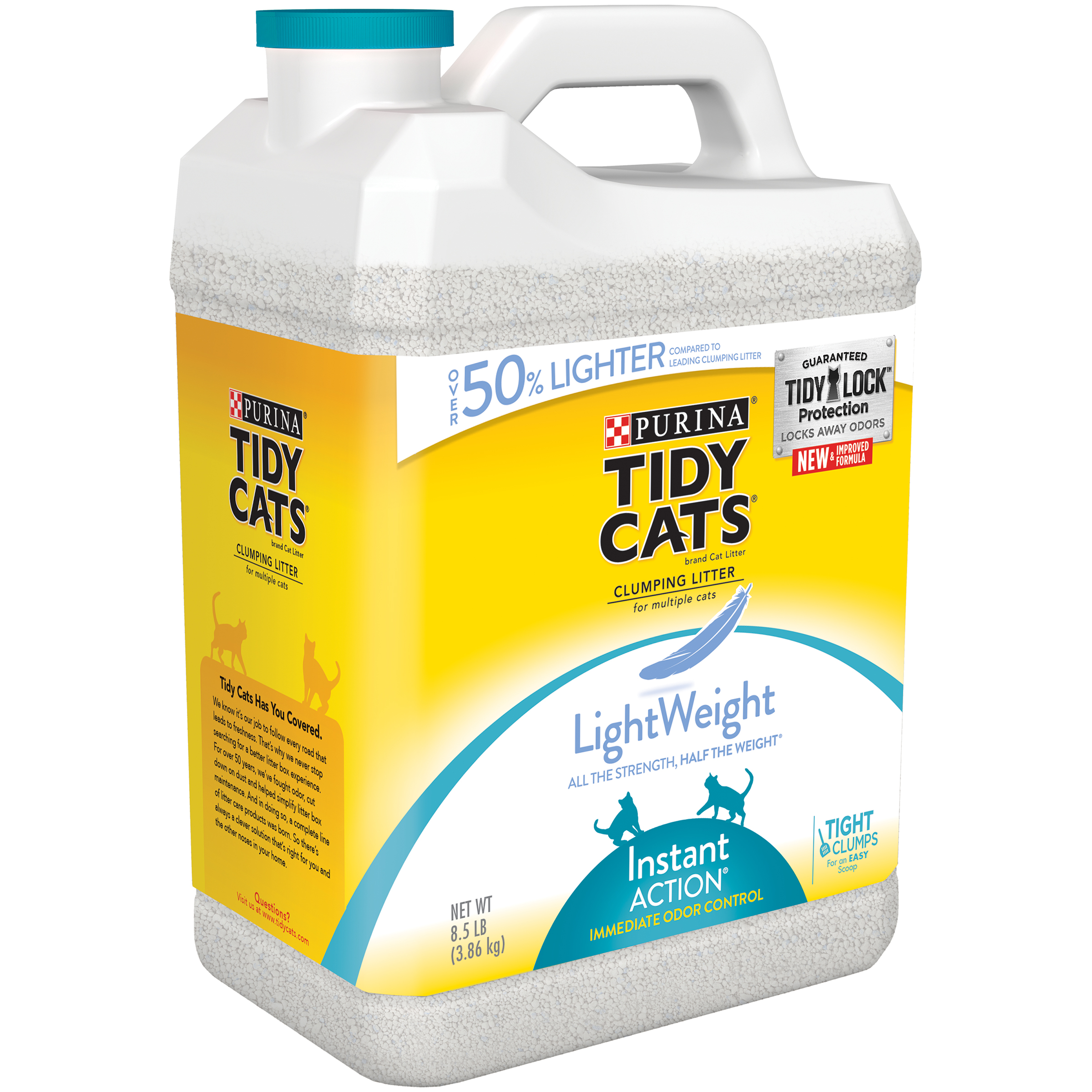 Purina Tidy Cats Lightweight Instant Action Clumping Cat Litter, 8.5-lb